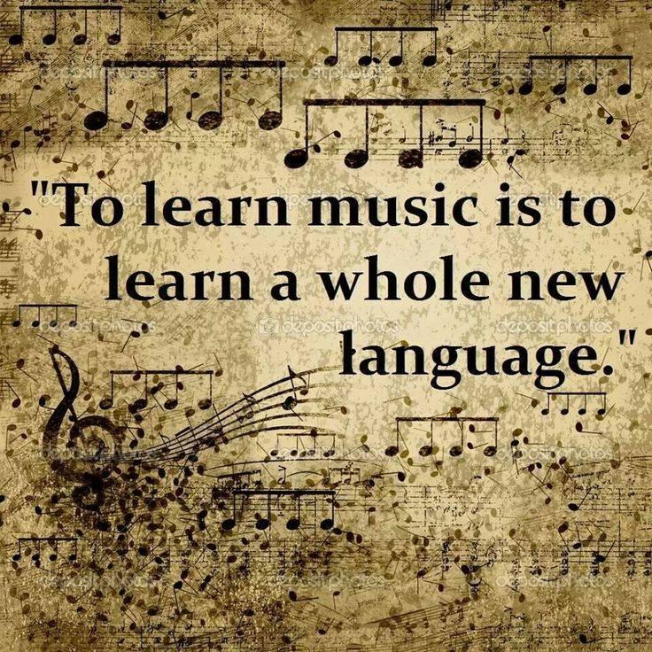 Musik er et helt nyt sprog
